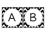 Chevron and Polka Dot Uppercase BOGGLE Bulletin Board Letters