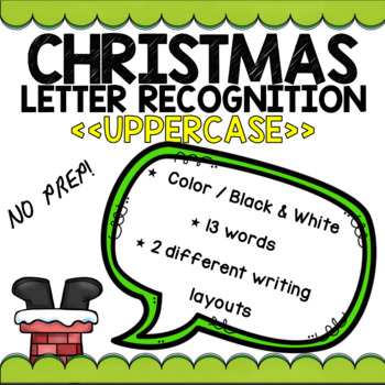 Christmas Letter Recognition (UPPERCASE)