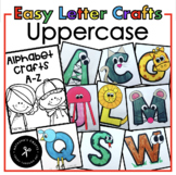 Alphabet Crafts - Uppercase - Easy Prep