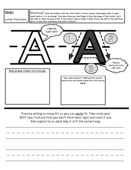 Uppercase Handwriting Book (paraprofessional or volunteer)