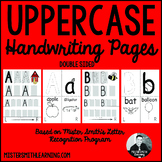 Uppercase Handwriting Pages- Mister Smith Learning (double sided)
