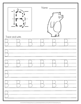 Handwriting Pages {Picture Alphabet}