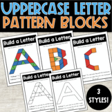 Uppercase Letter Alphabet Mats - Pattern Block Mats