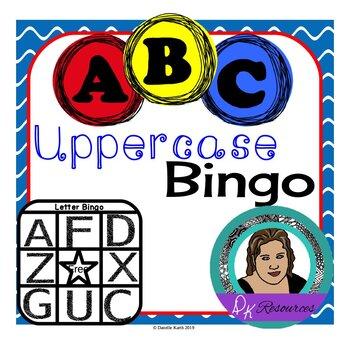 Uppercase Letter Bingo Set for Practicing Uppercase Letter