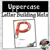 Alphabet Playdough Building Mats | Uppercase Letters