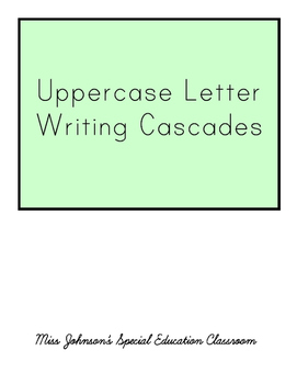 Uppercase Letter Cascades