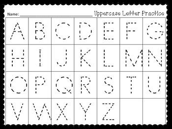 Uppercase Letter Center