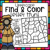 Uppercase Letters-Color by Code