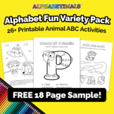 FREE SAMPLE – Mixed Alphabet Activity Worksheets – Alphabe