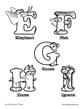 Uppercase Letter Coloring Pages – Alphabetimals Alphabet Printables