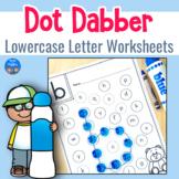 Lowercase Letter Worksheets for Dot Dabbers