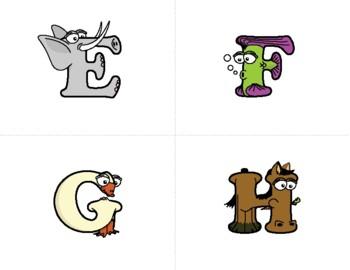 Uppercase Letter Flash Cards – Alphabetimals Alphabet Printables