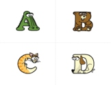 Uppercase Letter Flash Cards – Alphabetimals Alphabet Printables