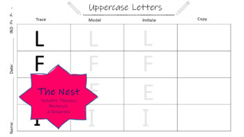 Uppercase Letter Formation - Developmental Sequence