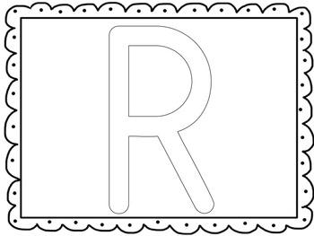 Uppercase Letter Hands-On Literacy Center: Playdough Mats [Common-Core Aligned]