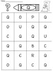 Uppercase Letter Identification Color Page