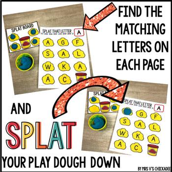 Uppercase Letter Identification Game: Splat that Letter
