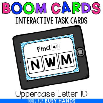 Uppercase Letter Identification Interactive Digital Task Cards (Boom! Deck)