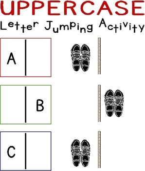 Uppercase Letter Jumping Activity