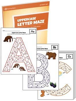 Uppercase Letter Maze Activity Set {COLOR+BW}