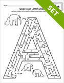 Uppercase Letter Maze Activity Set {BW}