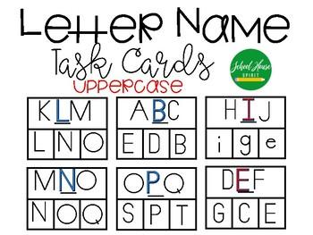 Uppercase Letter Name Task Cards - 3 Different Fonts !