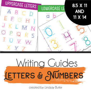 Uppercase Letter & Number Writing Guides