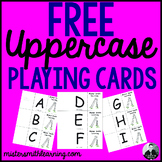 Free Uppercase Letter Playing Cards