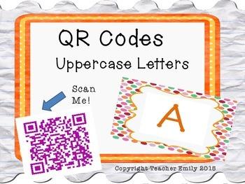 Uppercase Letter QR Codes