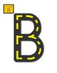 Uppercase Letter Road Tracing Mats (use cars)