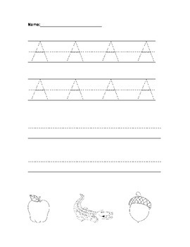 Letter A Tracing Page