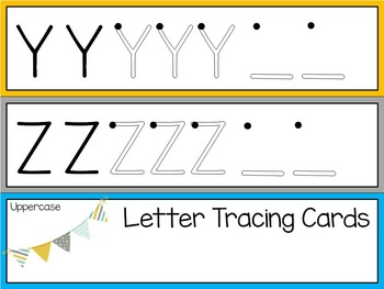 Uppercase Letter Tracing Cards