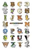 Uppercase Letter Wall Poster – Alphabetimals Alphabet Printables