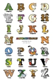 Uppercase Letter Wall Poster – Alphabetimals Alphabet Printables