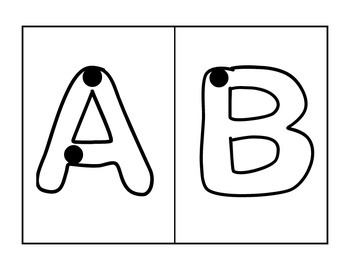 Uppercase Letters Handwriting Cards