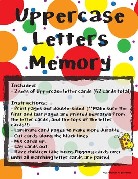 Uppercase Letters Memory