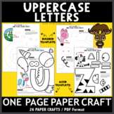 Uppercase Letters One Page Paper Crafts Set