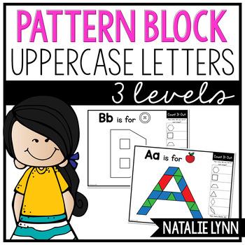 Uppercase Letters Pattern Block Mats
