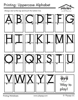 image about Upper Case Letters Printable titled Uppercase Letters Printable