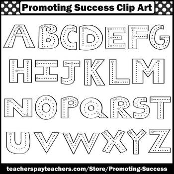 Upper Case Letters, Alphabet Clipart, Commercial Use SPS