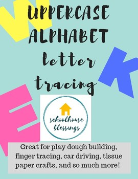 Uppercase Letters Tracing Printable