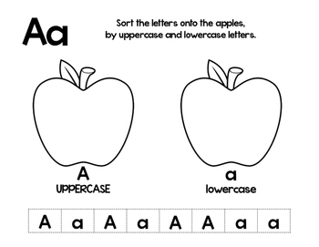Uppercase Lowercase A to Z Letter Sort