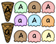 Uppercase & Lowercase Aa - Zz Ice Cream Sort Stackers
