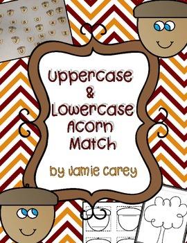 Uppercase & Lowercase Acorn Match