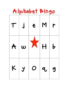 Uppercase & Lowercase Alphabet Bingo!