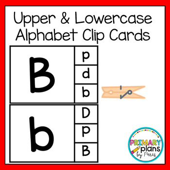 Uppercase & Lowercase Alphabet Clip Cards