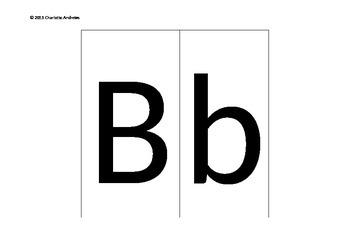 Uppercase & Lowercase Alphabet Flashcards