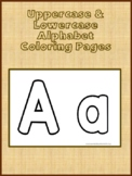 Uppercase & Lowercase Coloring Pages