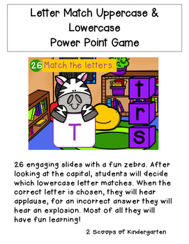 Uppercase & Lowercase Letter Match Power Point Game