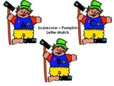 Uppercase Lowercase Letter Match with Scarecrows and Pumpkins